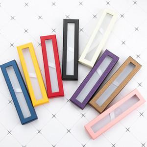 Pen Geschenkbox Transparent Fenster Papierverpackung Pen Box Kugelschreiber Bleistiftkoffer Display Stand Rack School Office Supplies Schreibwaren