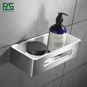 FLG montaggio a parete singola Tier bagno mensola in acciaio inox in plastica ABS Holder Bagno Doccia Camera Basket Accessori