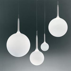 Modern Beyaz Topu kolye lamba yatak odası başucu hanglamp odası mutfak armatür süspansiyon dinning oturma odası