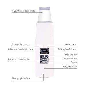 gros Soin de la peau 25Khz à ultrasons Ion Hydrodermabrasion microcourants Spatule Peeling ultrasons peau Machine HIFU Scrubber