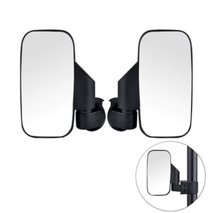 OKSTNO UTV Side View Mirrors Aluminum Alloy Heavy Duty With 1.75 Inch Clamps For Polaris RZR 900 XP 1000 Kawasaki Arctic Cat Wildcats