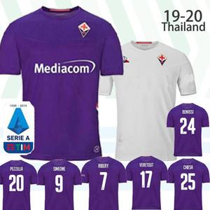 2019 20 New ACF Fiorentina Florenz Fußball-Trikot RIBERY Chiesa Fußballhemd Prince Boateng Camiseta de futbol Milenkovic maillot de foot