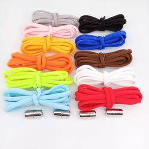1Pair Elastic Locking Shoelaces Round Elastic Shoe Laces Kids and Adult Sneakers Shoelace Quick Lazy Laces 11 Color Shoestrings