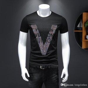 mens migliore qualità Nero Bianco maglietta Vlone delle donne degli uomini T shirt progettista magliette del progettista del Mens off degli uomini bianchi abiti firmati