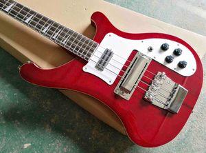 Custom Red 4 strings 4003 Bass guitar Rosewood fingerboard Black pick guard and hardware Ricks Electric bass