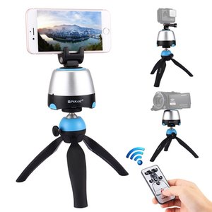 Electronic Tripod 360 Degree Rotating Panoramic Tripod Head w h Remote Controller shooting gimbal For GoPro Iphone Smartphone DSLR Cameras