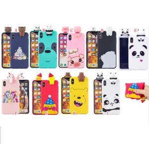 3D Cartoon Cute Soft Case For Samsung Galaxy A11 A21S A31 A51 5G A71 NOTE 20 PRO Phone TPU Bear Panda Cat Cover