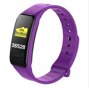 C1 Plus-Smart-Armband-Farben-Schirm-Blutdruck Fitness Tracker Herzfrequenzmesser Smart-Band-Sport für Android IOS