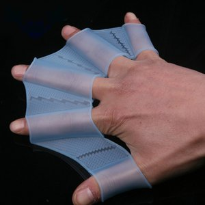 Silicone Sapo Mão Natação aletas de natação luvas de dedos Webbed Mergulho Ferramentas palma da mão Webbed Paddle Brinquedos para Crianças Crianças
