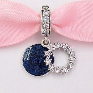 Auténticos 925 cuentas de plata esterlina inspirada Estrellas encantos cuelgan el encanto se adapta al estilo europeo joyería de Pandora 798433C collar de las pulseras