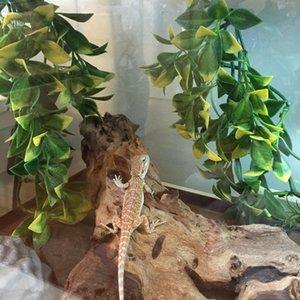 Lizard, kurbağa, yılan Bukalemunlar ve fazla Sürüngenler için 3`lü Esnek Jungle Vines Pet Habitat Dekor