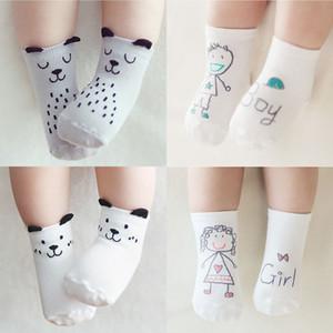 14 estilos bebé moda calcetines de algodón recién nacido infantil niños piso antideslizante calcetines niñas niños asimétrico animal de dibujos animados calcetines M361