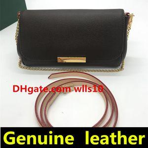 lüks tasarımcı çanta çanta Yeni Stil Moda Ünlü Kadınlar Çanta Gerçek Deri Zincir Çanta Kadınlar Omuz Çantası 40718 LB01 Womens