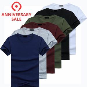 2019 6pcs / uomini di modo alta qualità del lotto T-shirt casual manica corta T-shirt Mens casuale solido cotone Tee Shirt vestiti di estate MX200508