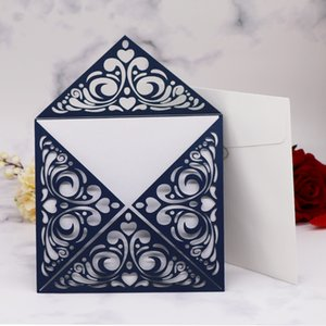 15pcs 최신 추수 감사절 초대장,빈 레이스 패턴 광장 진주 종이 어머니의 날 테마 활동 축복 카드