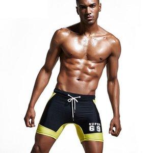 Mens Swimwear Men Swimming Trunks Swimming Shorts for Men Swimsuit Beach Bathing Wear Long Boxer Brief M-2XL