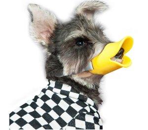مكافحة دغة بطة الفم شكل الكلب الفم يغطي مكافحة كمامة أقنعة أقنعة الحيوانات الأليفة الفم تعيين دغة والدليل على مادة السيليكون