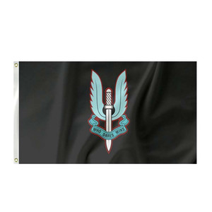 Special Air Service Black Flag 3x5ft Printing Polyester Club Team Sports Indoor With 2 Brass Grommets,Free Shipping