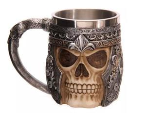 450ml Skull cavaliere tazza creativa resina in acciaio inox fantasma sede potabile mugpersonality tazze di alta qualità