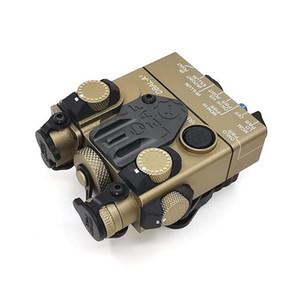 전술 DBAL-A2 크리 LED 화이트 라이트 사냥 레드 레이저 시력은 원격 스위치 라이플 총 라이트 가자