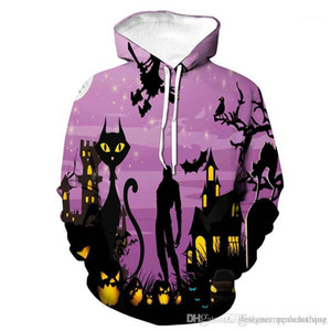 Festival Especial de Vestuário masculino Pumpkin 3D Print Men Hoodies Designer Halloween long sleep Hooded Couples Sweatshirts