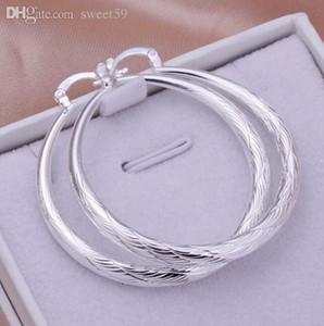 All'ingrosso-Nuovo delle donne dei monili Stylist 925 rotondo d'argento Loop orecchini Grande Grande Huggie del cerchio