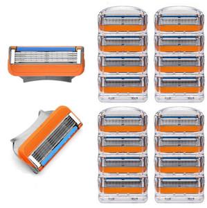 EPACK المحمولة اليد آلة الحلاقة ماكينة حلاقة الرأس القاطع رئيس استبدال 4PCS / الكثير دليل آلة الحلاقة خمسة طبقة موس رجال بليد اليدوية