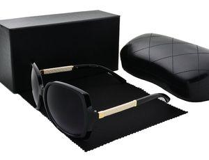 النظارات الشمسية الفاخرة للنساء تصميم الأزياء نظارات التفاف مكبرة الإطار البيضاوي طلاء مرآة عدسة ألياف الكربون الصيف نمط مع القضية