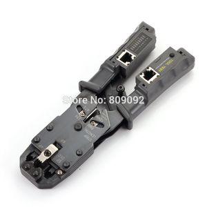 Freeshipping Câble réseau Pince à sertir Pince Testeur LAN Ethernet RJ45 / RJ11 / RJ9 6P DEC 4P 8P Pince à sertir Testeur de réseau amovible