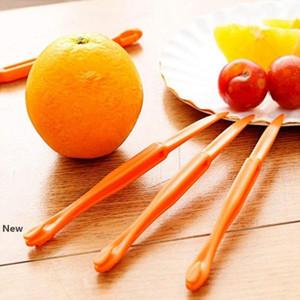قسم 15cm وطويل البرتقال أو الليمون مقشرة الفواكه التقشير المتعرية جهاز البرتقال السلخ سكين فتاحة الحمضيات أدوات الفواكه YYA57