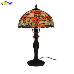 """FUMAT 12 """"Flower Lily Table Lamps Lampada da tavolo Tiffany in vetro colorato fatto a mano in stile europeo per soggiorno Luci da comodino"""