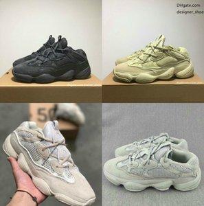 2020 Kanye 500 vision douce Hommes Femmes Chaussures de course os pierre blanche sneakers design blush sel DESERT RAT super lune jaune noir utilité
