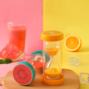 30 Minutes Fruit Sand Timer Clock Hourglass Home Office Desk Ornaments Child Anti-fall Hourglass