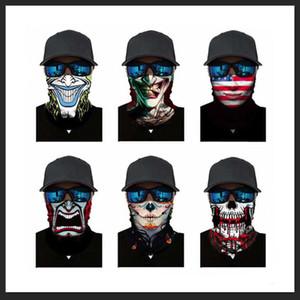 3D camuflaje sólido Bandana aficionados cuello polaina diadema Ciclismo Pesca pasamontañas Máscara bufanda de múltiples funciones al aire libre Headwear