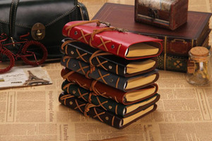 Vintage Leather Travel Journal Notebook Anchor Rudder Decoration Notebook DHL Free
