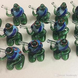 Nuovi HandPipe Pyrex Vetro Forma colorato tartaruga di alta qualità Resistenza alle alte temperature fumatori Hand Made del tubo del tubo di disegno unico DHL
