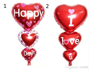 Balloon 2 Sizes Baloon Big I Love You ang Happy Day Balloons Party Decoration Heart Engagement Anniversary Weddings Valentine Balloons G924