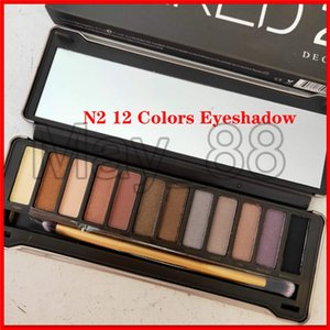 High Quality Eye Makeup Eyeshadow Palette 12 Colors With a Brush Shimmer Eyeshadow N2 Brand Free Shipping