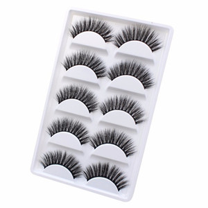 New 3 5 Pairs 3d False Eyelashes Natural Long Lashes 100% Reusable Eye Extension Makeup Tools