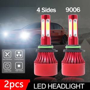 Auto Lichter 9006 HB4 4-Seiten LED Scheinwerfer Umbausatz Glühbirnen 2000 Watt 300000LM 6000 Karat