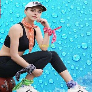 Sommer Kühltücher Unisex Cool Towel Cooling Schal Krawatten Halstücher Sport Yoga Eis Gürtel Cooling Wrap Krawatte
