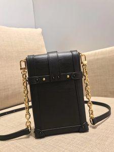 High-end caixa de presente personalizado novo senhoras celular saco crossbody corrente de metal destacável saco do telefone móvel único ombro mochila M63913