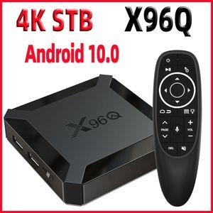 TV Box Android 10 Smart tv box X96Q mini TvBox Allwinner H313 Quad Core 4K 60fps 2.4G Wifi Google Player Youtube Netflix pk X96