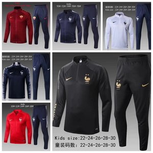 2018 2019 2020 Enfant Франция survetement куртка спортивный костюм BOY футбол Джерси спортивные костюмы MBAPPE костюм детский футбол куртка спортивный костюм s