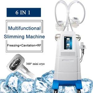 Eficaz Strong gordura cryolipolysis congelamento máquina Cryolipolysis emagrecimento máquina 360 graus do mini congelamento de gordura máquina RF cavitação Slimming