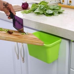 luluhut plastik mutfak saklama kutusu taşınabilir mini çöp kutusu masaüstü mutfak çöp çöp organizatörü dolap asılı kutusu