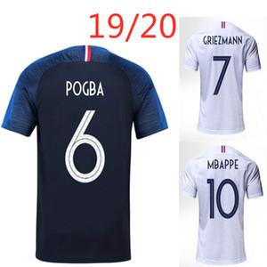 MBAPPE Pogba maillot de foot Griezmann GIROUD KANTE France maison loin qualité adulte blanc chemise de football personnalisable