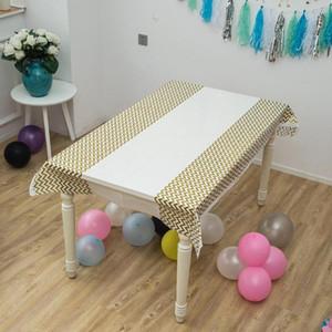 Stripe Пластиковые Скатерть Дети Birthday Party Свадебные украшения Baby Shower товары Одноразовая Скатерти