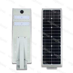أضواء الأمن الشمسية استشعار الحركة ضوء شارع 30W LED للماء IP65 متكاملة الألومنيوم الدافئ الأبيض للخارجية حديقة حديقة الطريق DHL