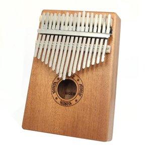 Muspor 17 Keys Kalimba Wood Mahogany Thumb Piano Musical Instrument with Tuning Hammer Cloth Sticker Bag Kalimba Accessories